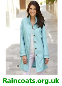 Light blue ladies military mac from Marisota