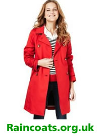 Red petite raincoat from M&S